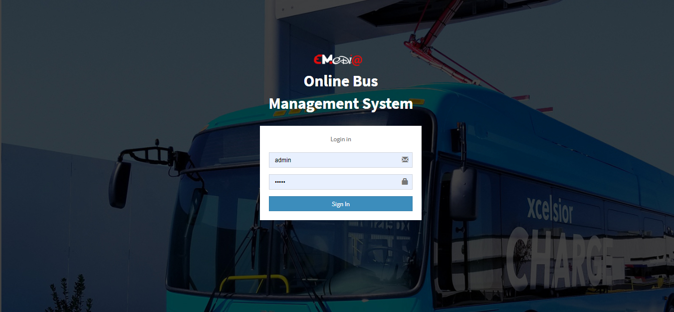 Online Bus Management System