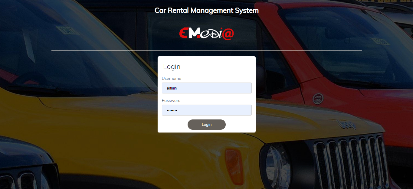 Proxymedia service- Car Rental Management System
